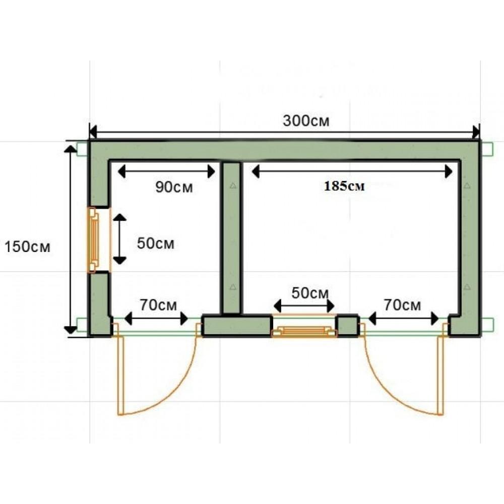 Как построить туалет с хозблоком на даче своими руками размеры чертежи 13