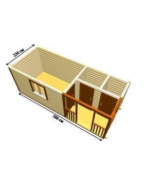 Бытовка с крыльцом 2х1м  и двумя хоз.помещениями